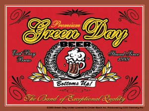 Green Day Vinyl Sticker Beer Logo