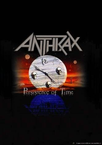 Anthrax Poster Flag Persistence of Time Tapestry