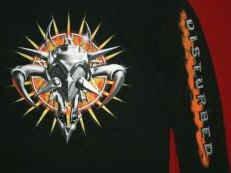 Disturbed Long Sleeve T-Shirt Quest Logo Black Size XL