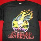 Avenged Sevenfold T-Shirt Skull Logo Black Size Small