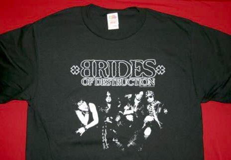 Brides of Destruction T-Shirt Destroy Logo Black Size Medium