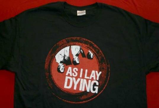 As I Lay Dying T-Shirt Choir Logo Black Size Medium