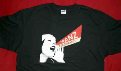 Franz Ferdinand T-Shirt Shout Logo Black Size Large