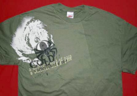 Cold T-Shirt Different Kind of Pain Spider Green Size XXL