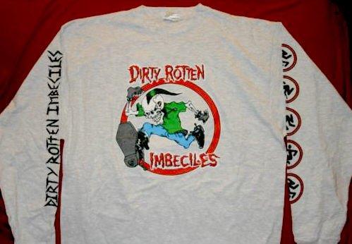 D.R.I. Long Sleeve T-Shirt 20 Years Gray Size XL