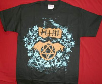 HIM T-Shirt Black Ville Eyes Heartagram Size Large