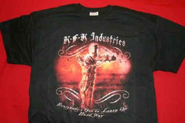 KFK Industries T-Shirt Crucifix Logo Black Size XXL