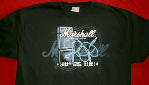 Marshall Amps T-Shirt Stack Logo Black Size XL