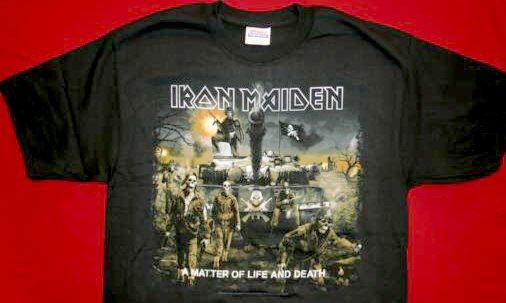 Iron Maiden T-Shirt Tank Logo Black Size Large