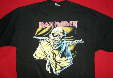 Iron Maiden T-Shirt Piece of Mind Black Size Large