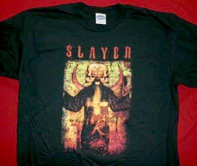 Slayer T-Shirt Two Faced Logo Black Size Medium