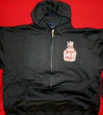 Sum 41 Zipper Hoodie Sweatshirt Crest Logo Black Size XL