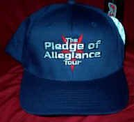 Pledge of Allegiance Tour Hat Navy Blue Size Large XL