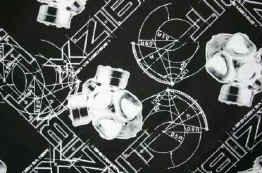 Xzibit Bandana Black White Logos Rap Hip-Hop