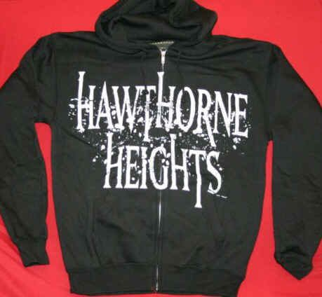 Hawthorne Heights Zipper Hoodie Sweatshirt Black Size Small