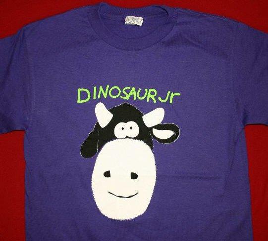 Dinosaur Jr T-Shirt Cow Logo Purple Size XL