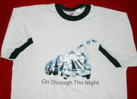 Def Leppard Ringer T-Shirt Truck Logo White Size XL