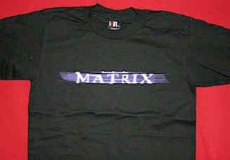 The Matrix T-Shirt Letters Logo Black Size Medium