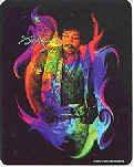 Jimi Hendrix Vinyl Sticker Rainbow Photo
