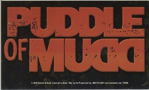 Puddle of Mudd Vinyl Sticker Letters Logo