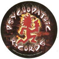 Psychopathic Records Vinyl Sticker Circle Logo