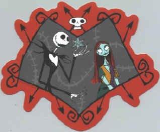 Nightmare Before Christmas Vinyl Sticker Jack Sally Frame
