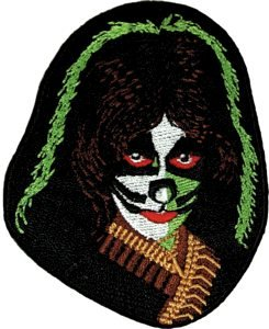 Kiss Iron-On Patch Peter Criss Face