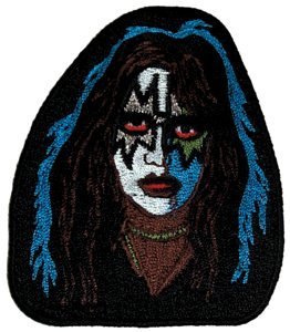 Kiss Iron-On Patch Ace Frehley Face