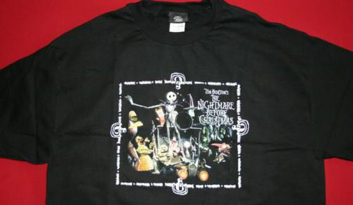 Nightmare Before Christmas T-Shirt Picture Perfect Black Size XL
