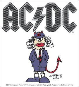 AC/DC Vinyl Sticker Cartoon Logo