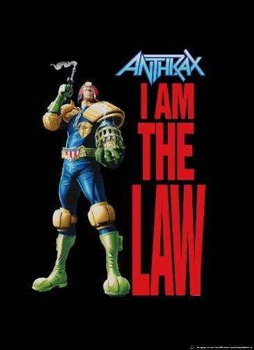 Anthrax Poster Flag Judge Dredd I Am the Law Tapestry