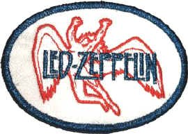 Led Zeppelin Iron-On Patch Swan Song Logo
