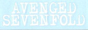 Avenged Sevenfold Vinyl Cut Sticker White Letters Logo