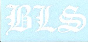 Black Label Society Vinyl Cut Sticker BLS White Letters Logo
