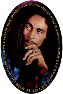 Bob Marley Vinyl Sticker Oval Legend Logo