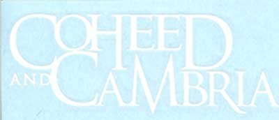 Coheed and Cambria Vinyl Cut Sticker White Letters Logo