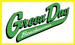 Green Day Vinyl Sticker Benchwarmer Logo