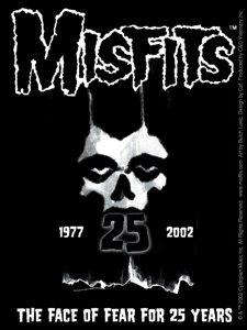Misfits Vinyl Sticker 25 Years Skull Logo