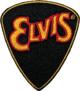 Elvis Presley Iron-On Patch Guitar Pick Logo