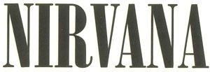 Nirvana Vinyl Cut Sticker Black Letters Logo