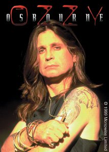 Ozzy Osbourne Vinyl Sticker Close-Up Photo Logo