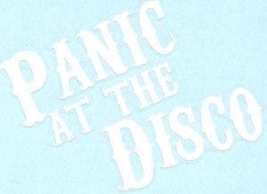 Panic at the Disco Vinyl Cut Sticker White Letters Logo