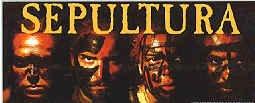 Sepultura Vinyl Sticker Group Letters Logo