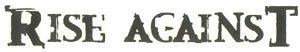 Rise Against Vinyl Cut Sticker Black Letters Logo