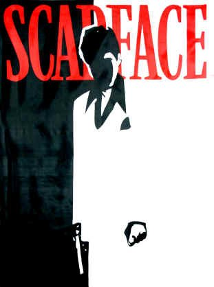 Scarface Poster Flag Silhouette Logo Wall Banner