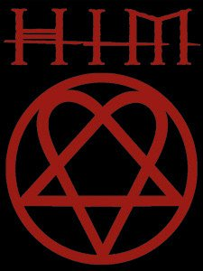 HIM Poster Flag Red Heartagram Logo Wall Banner