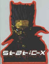 Static-X Vinyl Sticker Die Cut Logo