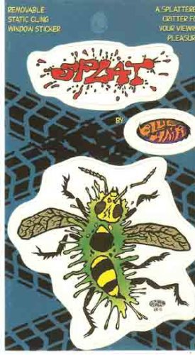Splat Window Sticker Bug Blue Hair Brand