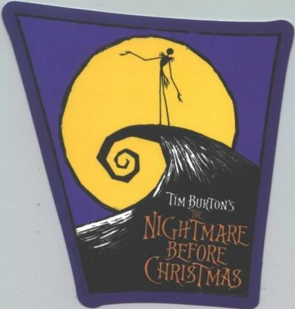 Nightmare Before Christmas Vinyl Sticker Poster Logo