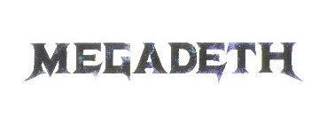 Megadeth Vinyl Sticker Black Letters Logo